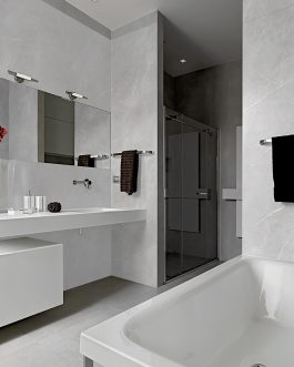 Carrelage marbre brillant rectifie salle de bain nancy metz
